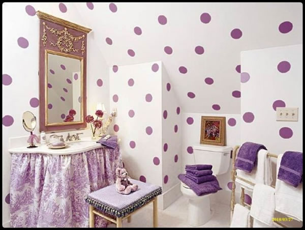 Ba os para peque os - Cute girls bathroom design interior ...