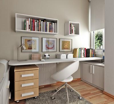 C mo decorar una zona de estudio para j venes - Decorar despacho pequeno ...