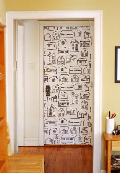 Puertas con papel pintado 5