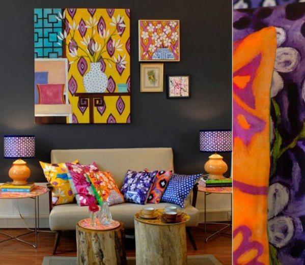 Decora tu sala sin gastar mucho for Decoracion con muchos cuadros