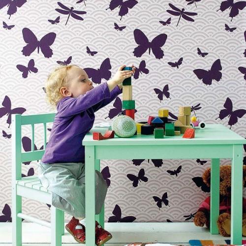 Decorar con mariposas la habitacion 10