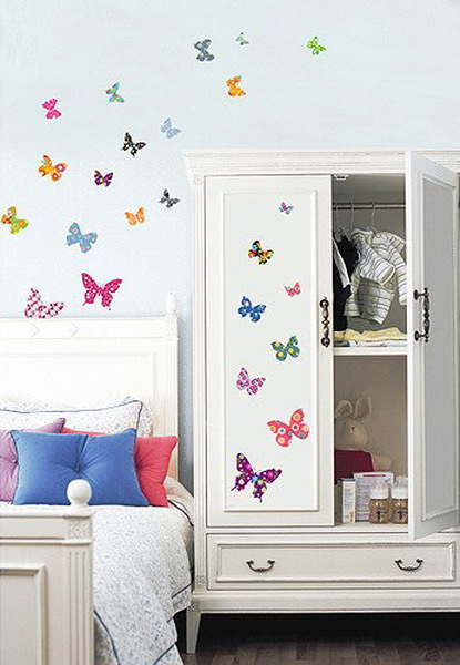 Ideas para decorar con mariposas la habitaci n for Ideas para decorar paredes infantiles