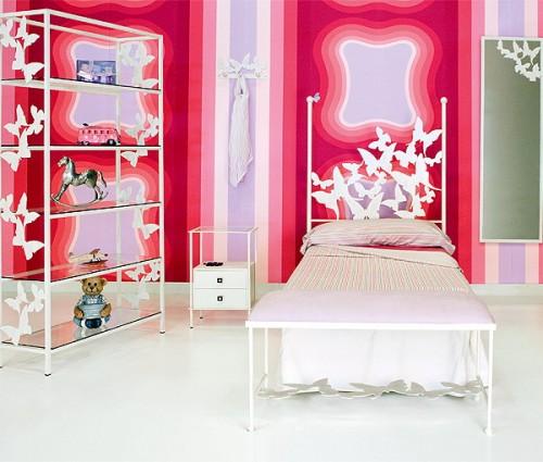 Ideas para decorar con mariposas la habitaci n - Vinilos para habitaciones de bebes ...