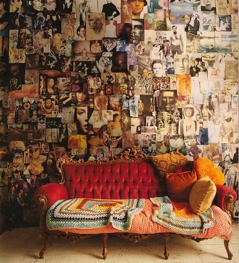 Paredes decoradas con objetos - Cool wall decoration ideas for hipster bedrooms ...