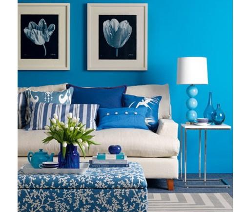 Toques de azul en la decoración 1