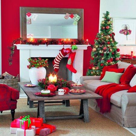 Diez salones decorados para Navidad 1