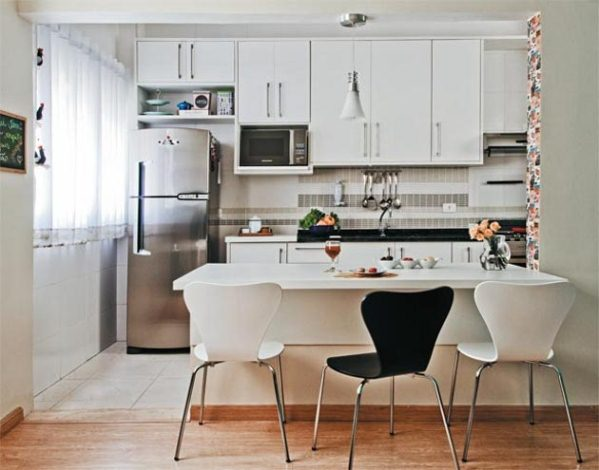 Cocina americana para apartamentos peque os for Departamentos pequenos modernos decorados