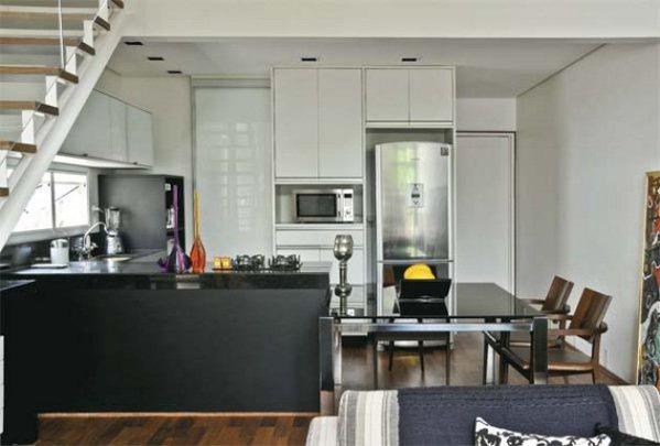 Cocina americana para apartamentos peque os for Cocinas modernas apartamentos pequenos
