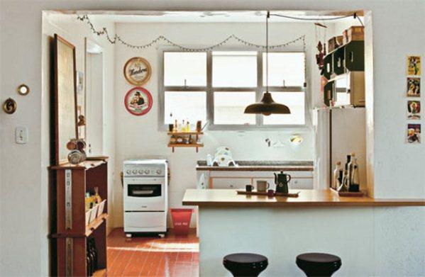 decorar kitnet na praia:Cocinas De Apartamentos Pequenos