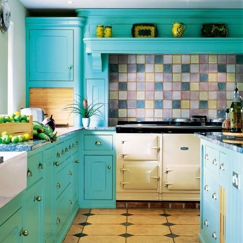 Cocinas coloridas for Cocinas colores combinados