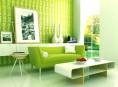 imagen Color verde en las salas