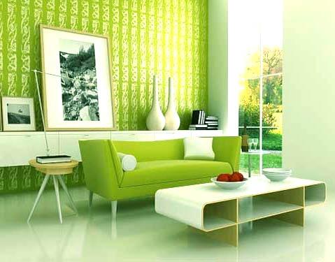 Color verde en las salas 3