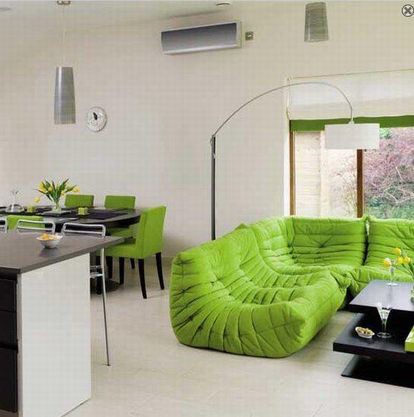 Color verde en las salas 4