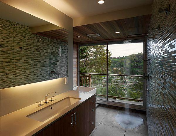 Cuartos de baño con ducha abierta