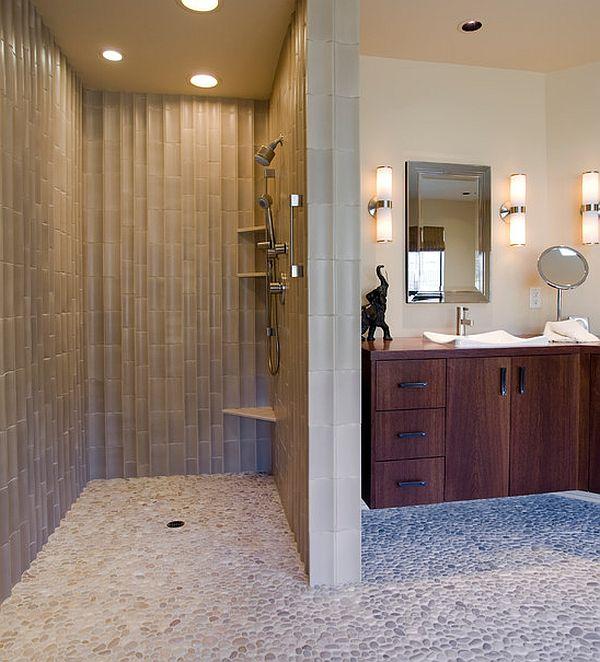 Snail Shower Design Ideas: Cuartos De Baño Con Ducha Abierta