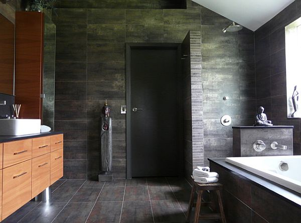 Cuartos De Baño Con Ducha:Modern Bathroom Doorless Shower Design
