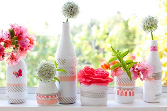 Divertidas decoraciones con cinta washi - Decoracion con cintas de papel ...