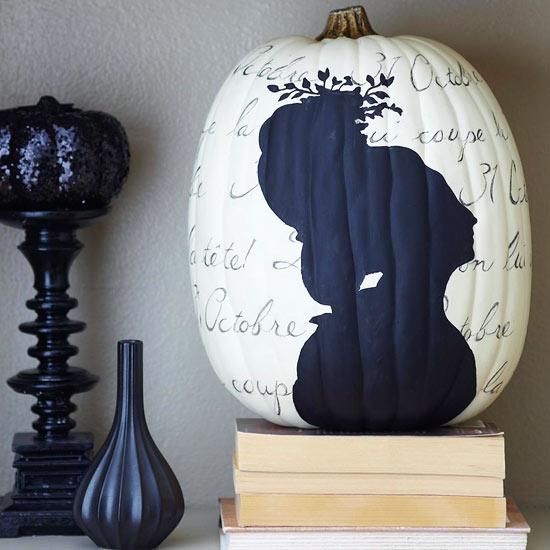 Decoraciones en blanco y negro para Halloween 1