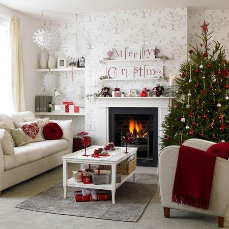 Diez salones decorados para Navidad 5