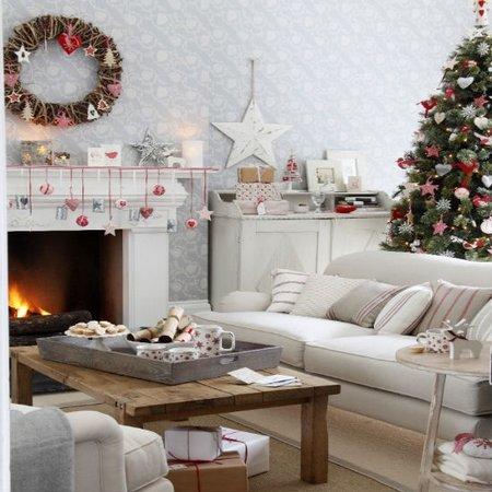 diez salones decorados para navidad 6 - Imagenes De Salones Decorados