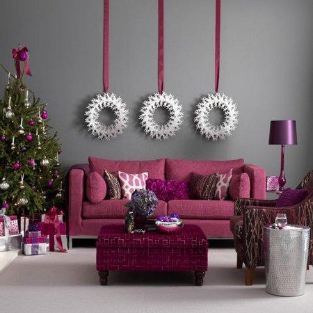 diez salones decorados para navidad 8 - Imagenes De Salones Decorados