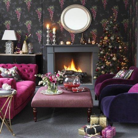 Diez salones decorados para Navidad 9