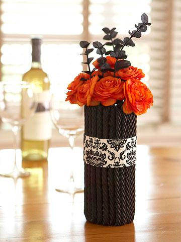 decoraciones en blanco y negro para Halloween 3