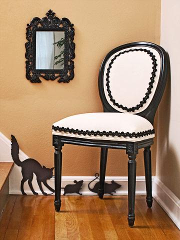 M s decoraciones en blanco y negro para halloween El gato negro decoracion