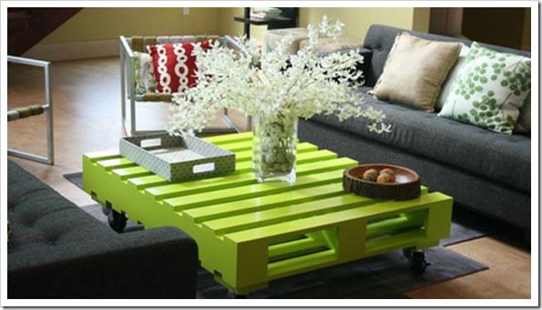 mesas con palets para decorar