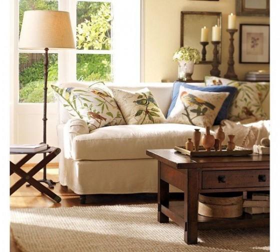 Sala de estar con estilo ingl s for Sofas clasicos estilo ingles