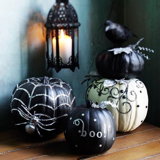 Un halloween con glamour - Calabazas pintadas para halloween ...