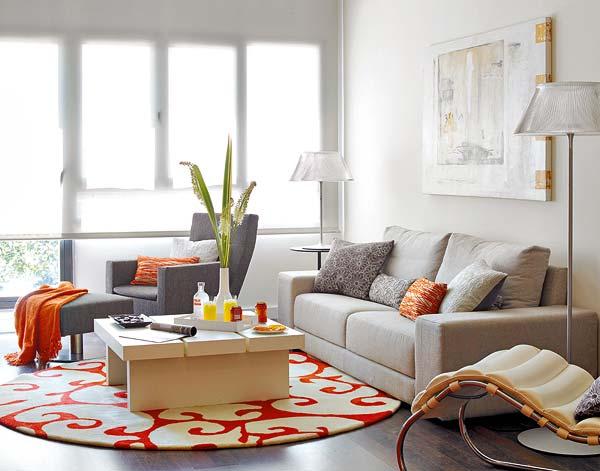 Apartamento decorado en naranja 1