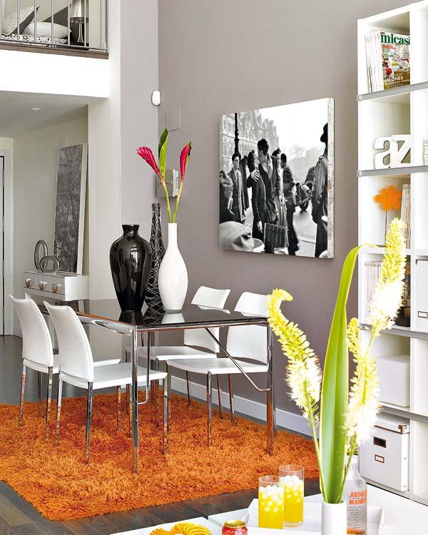 Apartamento decorado en naranja 3