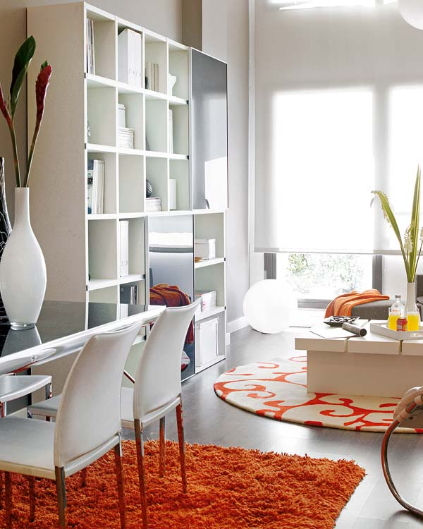 Apartamento decorado en naranja 4
