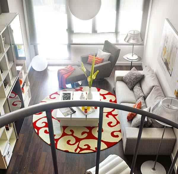 Apartamento decorado en naranja 8