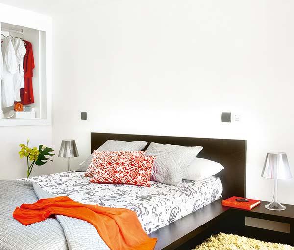 Apartamento decorado en naranja 10