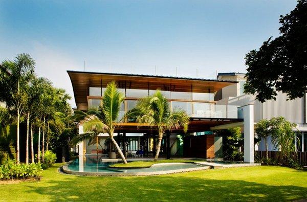 Una casa acu tica en singapur for Casa de lujo minimalista y espectacular con piscina por a cero
