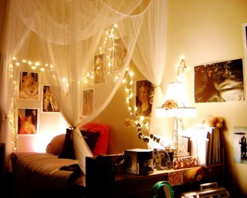 Luces de navidad en la habitación 1