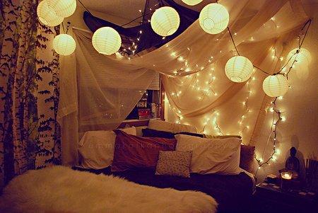 Luces de navidad en la habitación 11