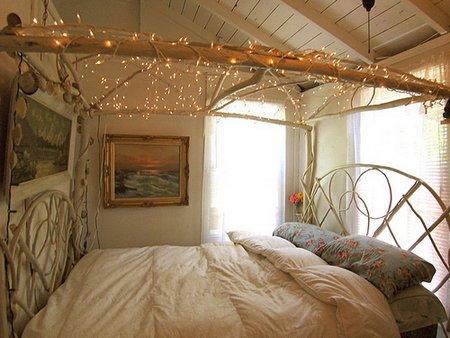 Luces de navidad en la habitación 12