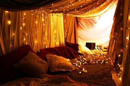 Luces de navidad en la habitación 2