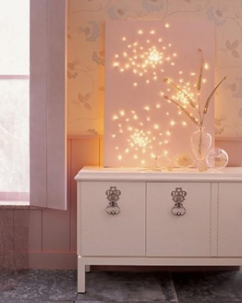 Luces de navidad en la habitación 3