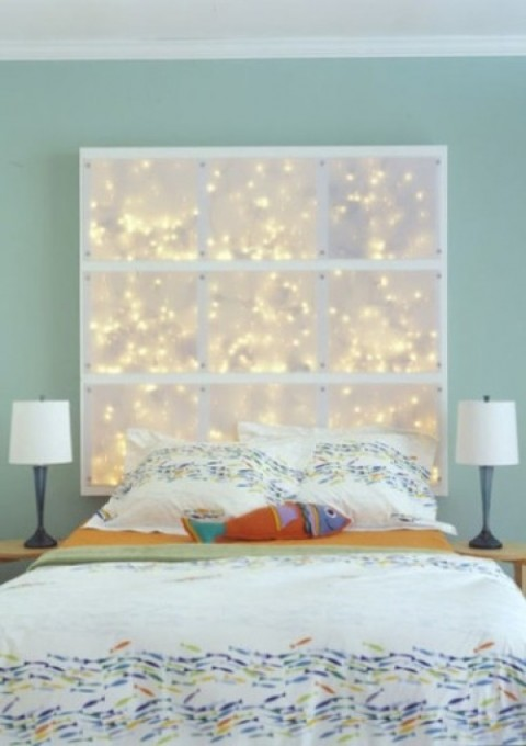 Luces de navidad en la habitación 5