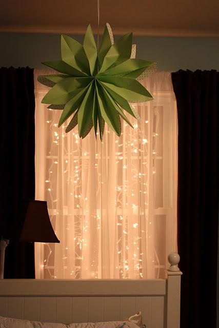 Luces de navidad en la habitación 6