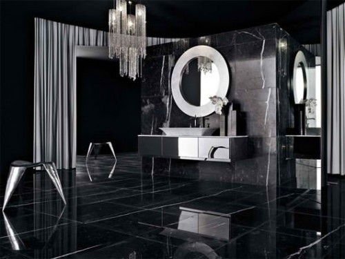 black white bathroom designs cuarto de ba 241 o en color negro 22702