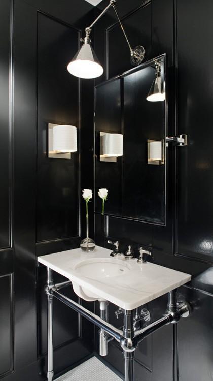 Cuarto de baño en color negro