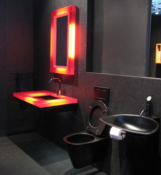 Baños en color negro 6