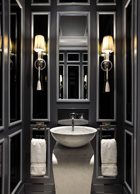 Baños en color negro 7