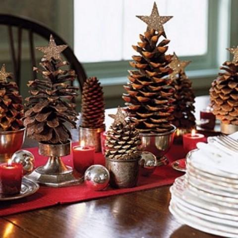 Decora con piñas para navidad 6