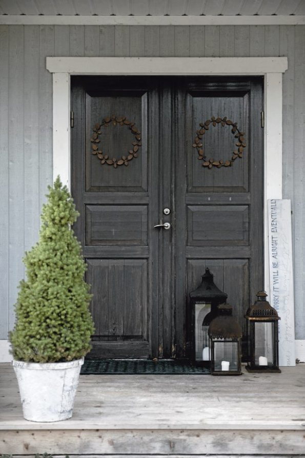 Decoraci n navide a en una casa escandinava - Decoracion navidena de casas ...